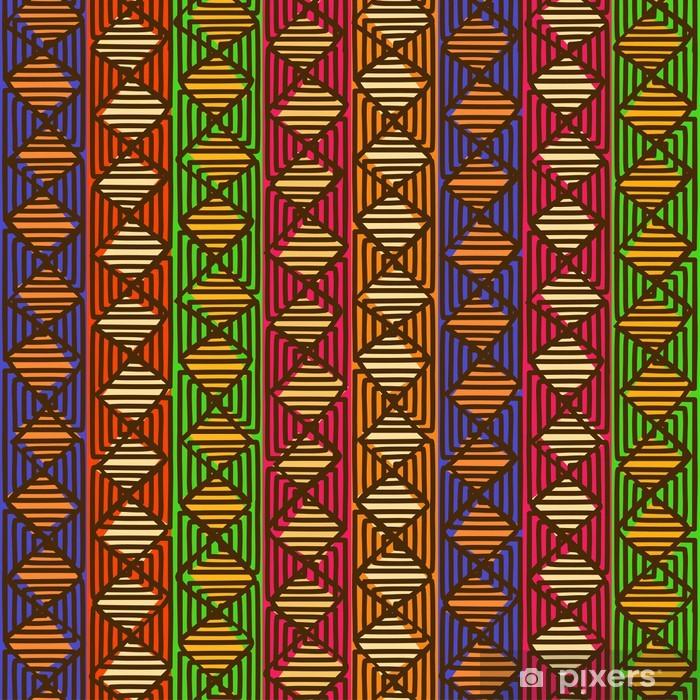 Poster Ethnic seamless géométrique - Arrière plans