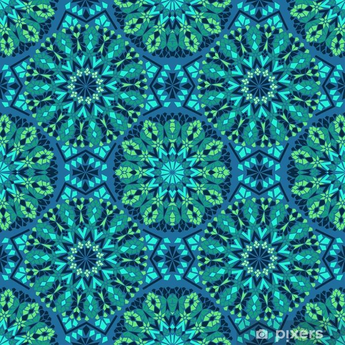 Pixerstick Sticker Naadloze patroon van mozaïek - Mozaïek