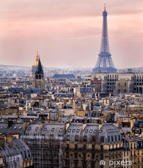 Fototapeta winylowa Widok na Paryż i Wieżę Eiffla z góry - Tematy