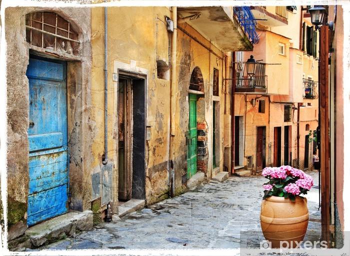 Papier peint vinyle Vieilles rues de villages italiens - Thèmes