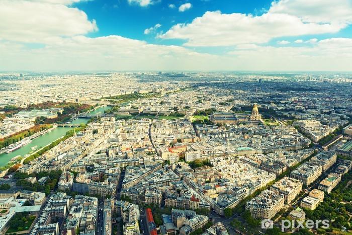 Papier peint vinyle Vue de Paris depuis la Tour Eiffel - Paysages urbains