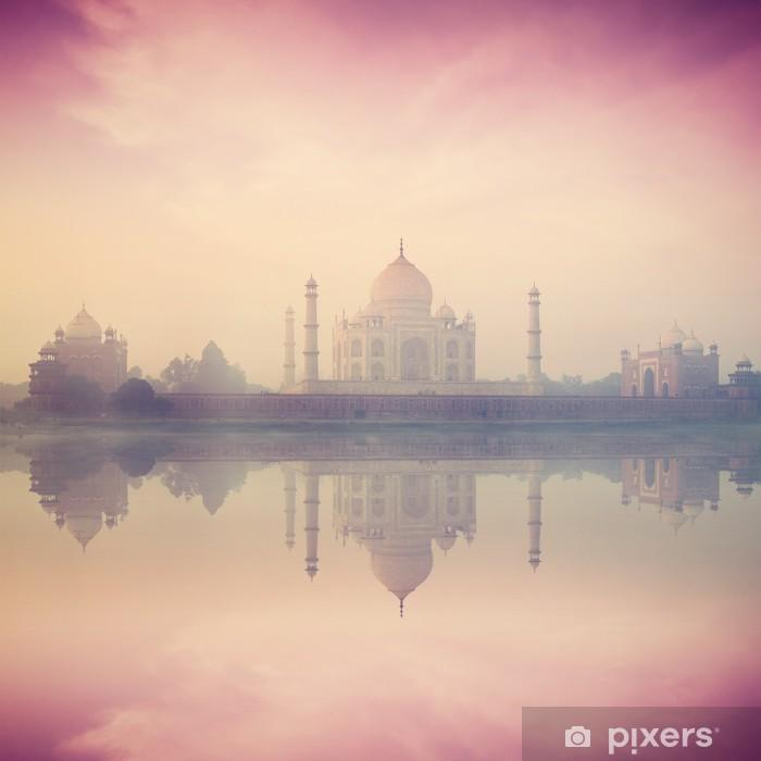 Taj Mahal on sunrise sunset, Agra, India Pixerstick Sticker - Asia