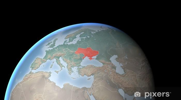 Karte Europa Asien.Fototapete Karte Von Europa Asien Mittlerer Osten Krim Und In Der Ukraine