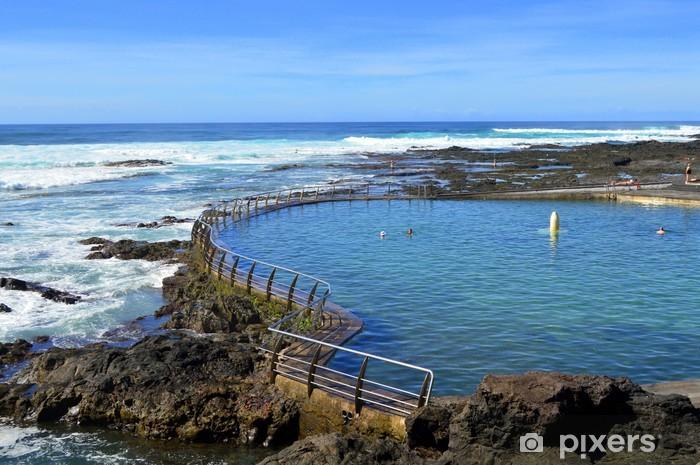 Fotomural Estándar Piscina Natural en Punta del Hidalgo. Tenerife - Vacaciones