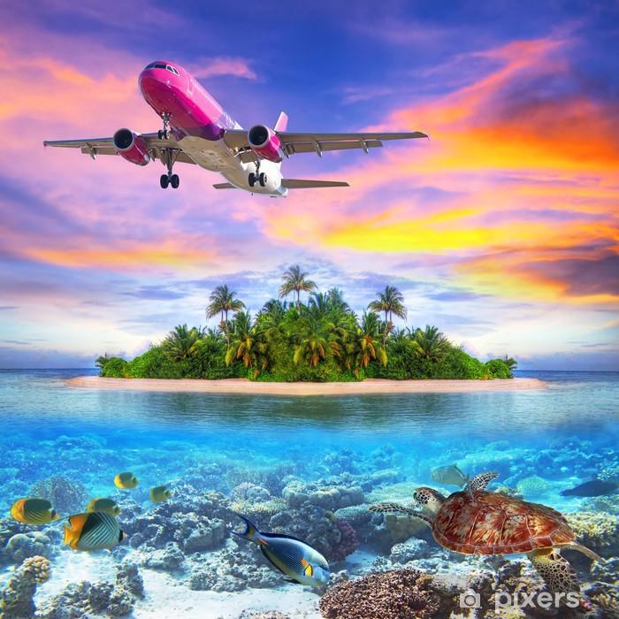 Papier peint vinyle Vacances sur l'île tropicale des Maldives - Thèmes