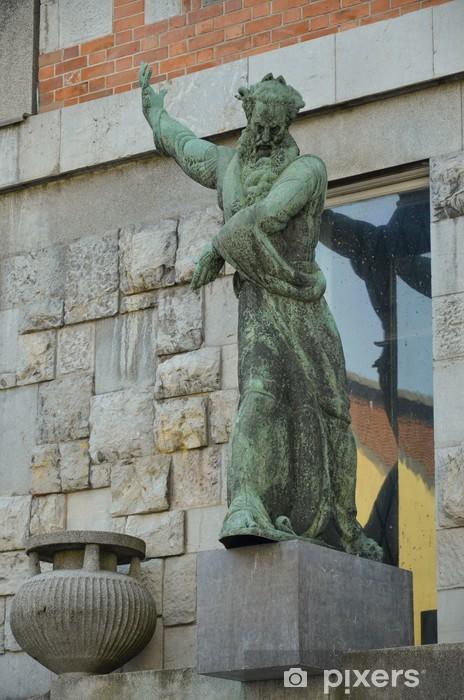 Vinylová fototapeta La Statua della Biblioteca nazionale, Lubiana - Vinylová fototapeta