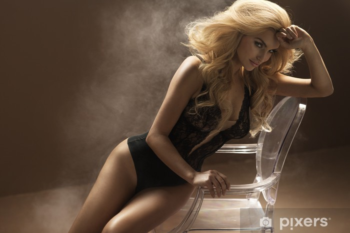 e99c6c7473 Carta da Parati in Vinile Donna sexy che indossa lingerie sensuale - Donne
