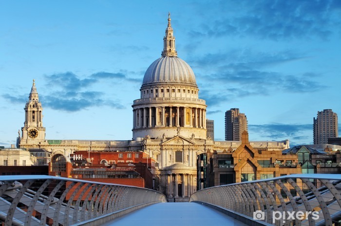London St. Paul Cathedral, UK Pixerstick Sticker - Themes