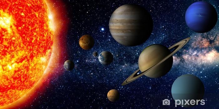Pixerstick Klistermärken Solsystem - Stilar