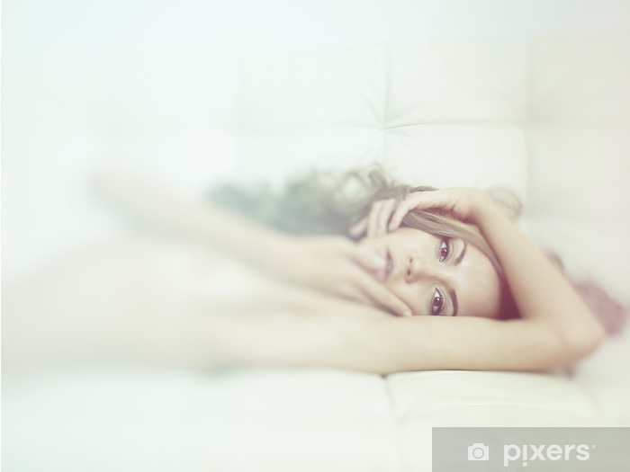 Sensual woman in bed Pixerstick Sticker - Lifestyle>Body Care and Beauty