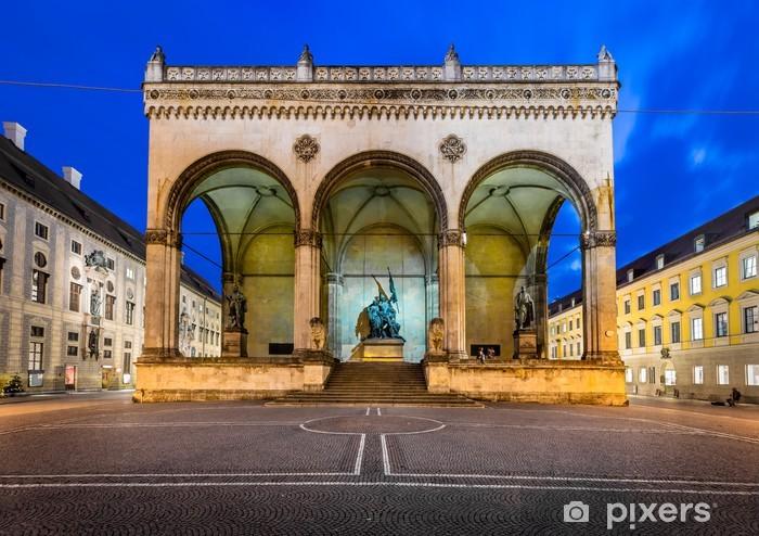 Fototapete Odeonsplatz Feldherrnhalle und am Abend, München, Bayern, G