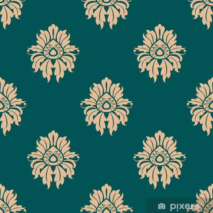 Retro floral seamless pattern Vinyl Wall Mural - Backgrounds