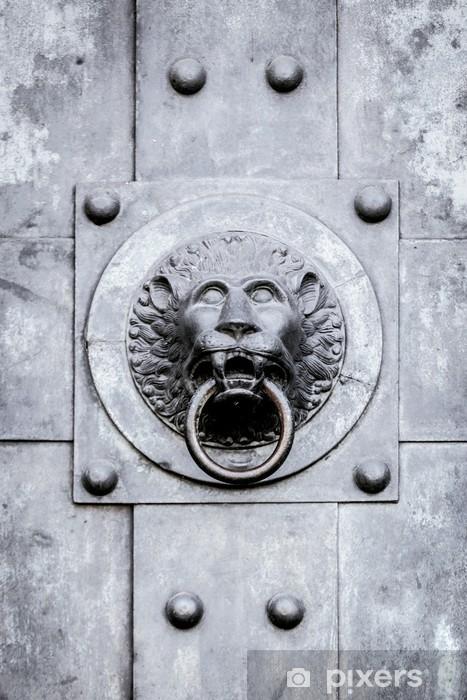 Naklejka Pixerstick Door Knob Lion -