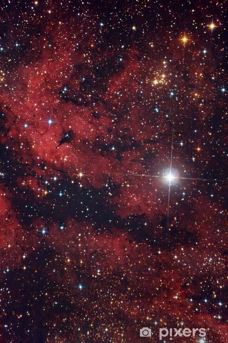 Cielo Rosso Di Notte.Nebulosa Rossa Nel Cielo Di Notte Sticker Pixerstick