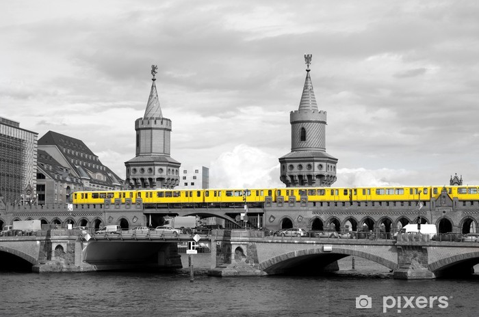 berlin oberbaumbrücke Pixerstick Sticker - Berlin
