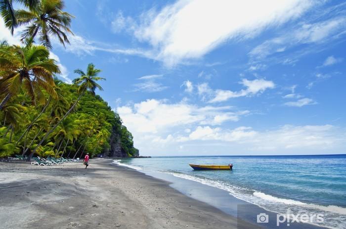 Naklejka Pixerstick Wyspa św. lucia - Ameryka
