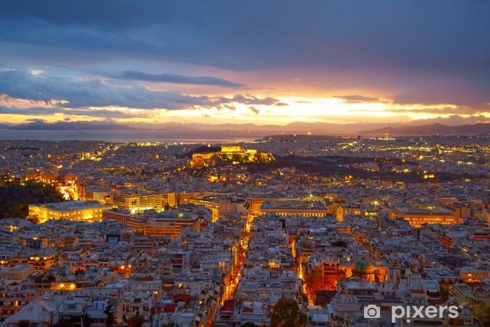 Papier peint vinyle Athènes, Grèce. Après le coucher du soleil. - Villes européennes