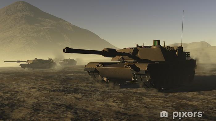 Fotomural Estándar Tanques de Estados Unidos de la batalla en un desierto - Temas