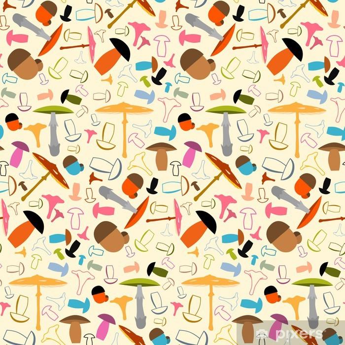 Papier peint vinyle Mushroom Seamless - Contexte - Saisons