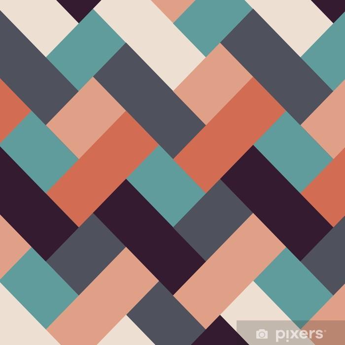Naklejka Pixerstick Styl retro abstrakcyjne tło paski - Tła