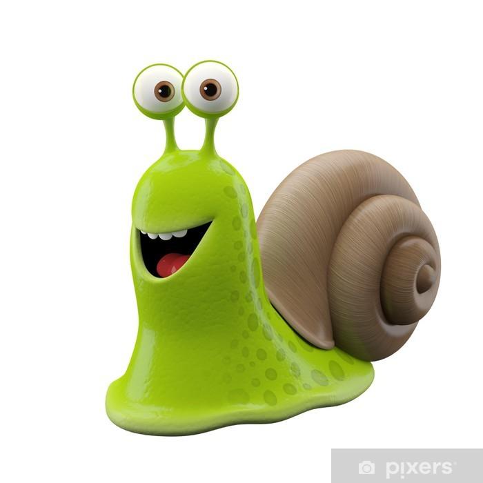 3f49a945e 3d funny character, happy cartoon snail Vinyl Wall Mural - Imaginary Animals