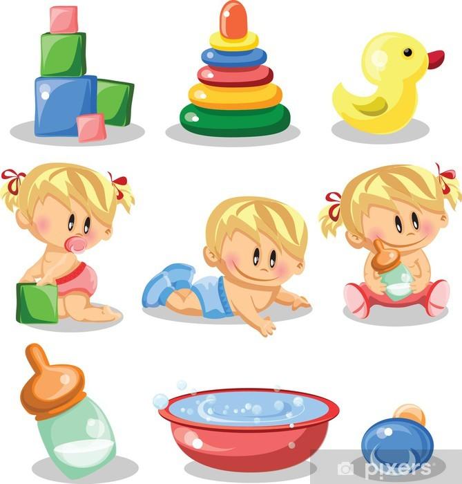 42a912075256cc Fototapete Karikatur-Baby-und Kinderausstattung • Pixers® - Wir ...