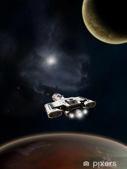 Papier peint vinyle Deep Space Science Fiction croiseur de bataille - Temps