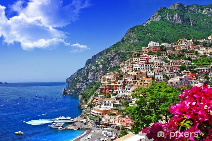 Pixerstick Sticker Prachtige landschap van Amalfi kust van Italië, Positano. - Thema's