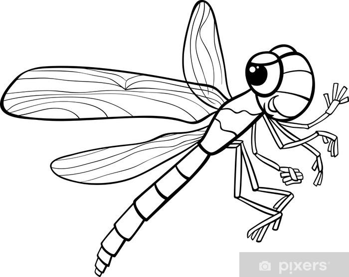 Aufkleber Libelle Insekt Malvorlagen Pixerstick