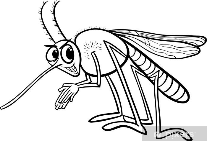 Fototapete Moskito Insekten Malvorlagen Pixers Wir Leben Um