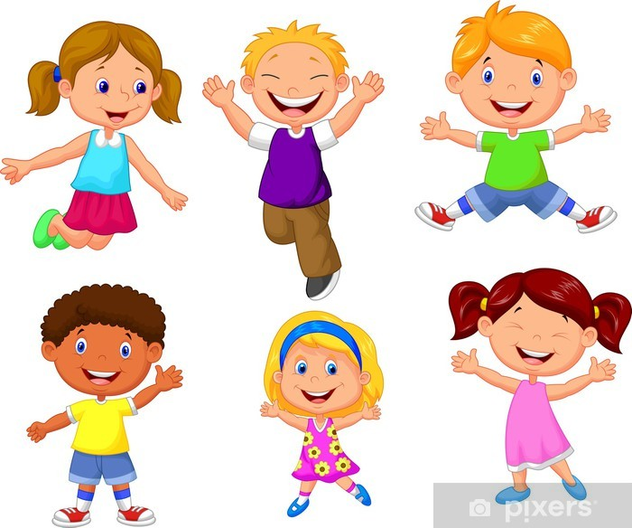 Happy kids cartoon Poster