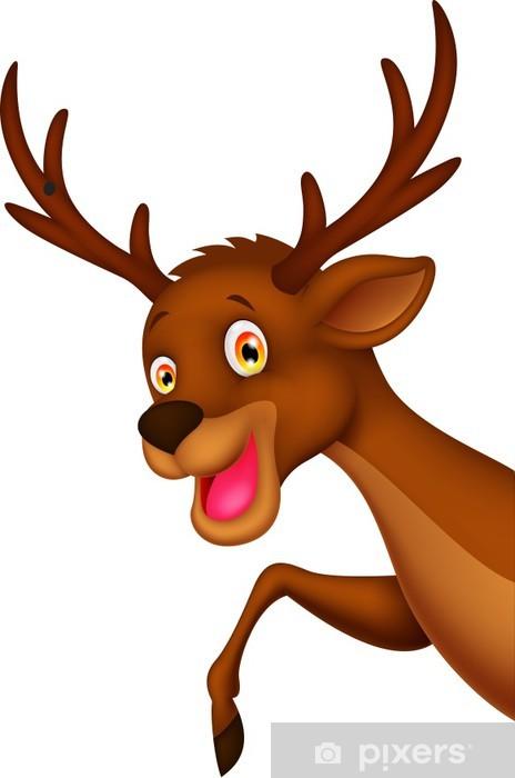 Fototapeta Roztomilé kreslené jelen mává • Pixers® • Žijeme pro změnu 1ec5a20e52