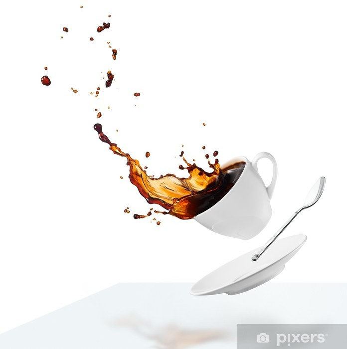 Vinylová fototapeta Rozlití kávy - Vinylová fototapeta