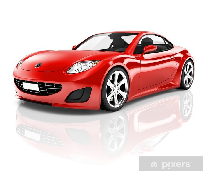 Red 3d Sport Car Sticker Pixers We Live To Change