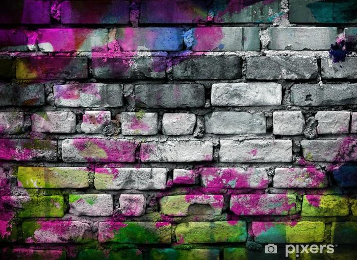 Naklejka Pixerstick Graffiti mur ceglany - Tematy