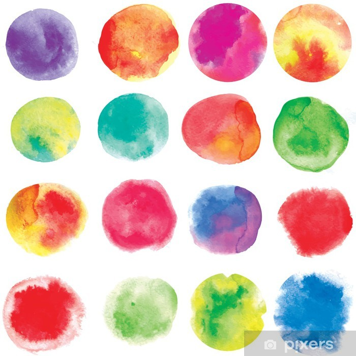 Vinyl Fotobehang Watercolour - Thema's