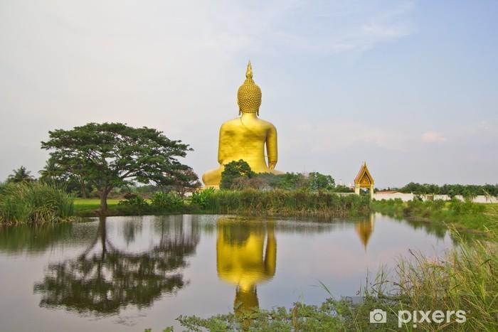 Nálepka Pixerstick Velký socha Buddhy v Wat Muang v Thajsku - Náboženství