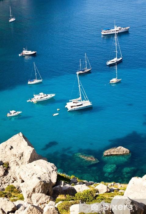 Vinylová fototapeta Jachty Mallorca bay, Španělsko - Vinylová fototapeta