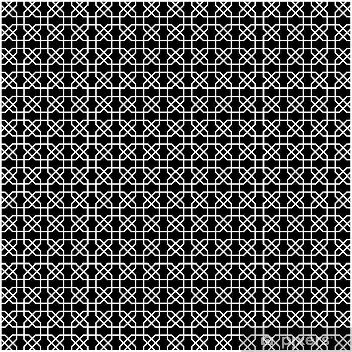 Naklejka Pixerstick Czarno-biały wzór geometryczny. - Tła