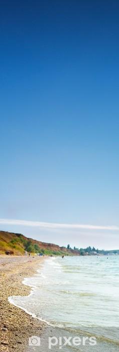 Naklejka Pixerstick Fale, piasek, morze, plaża i - Woda