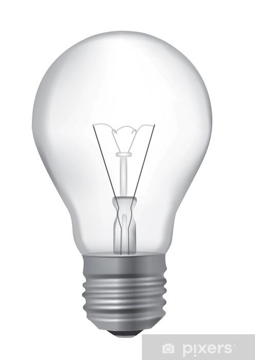 Ampoule Dessin sticker pour armoire ampoule dessin réaliste • pixers® - nous vivons