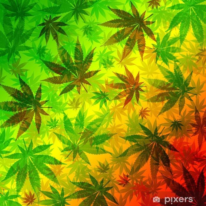 Fototapeta winylowa Wzór liści konopi marihuany - iStaging