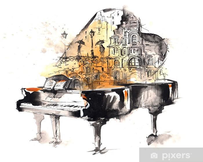Vinyl-Fototapete Flügel - Klavier