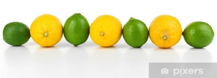Fototapeta winylowa Cytryny i limonki, odizolowane na białym - Przeznaczenia