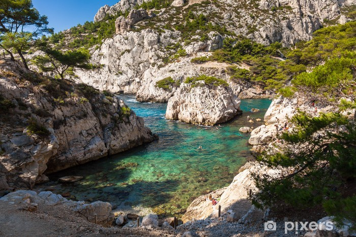 Pixerstick Sticker Calanques nabij Marseille en Cassis in het zuiden van Frankrijk - Europa