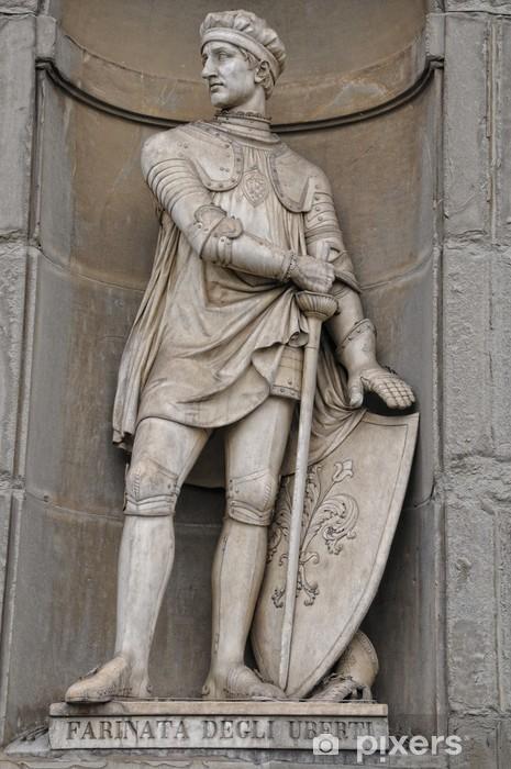 Pixerstick Aufkleber Florenz Farinata degli Uberti Statue in der Nähe der Ponte Vecchio - Denkmäler