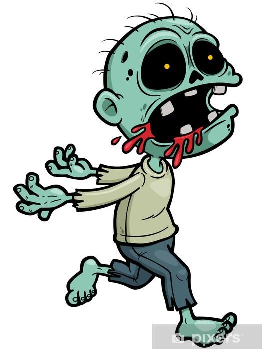 Papier peint vinyle Vector illustration de zombie Cartoon - Thèmes