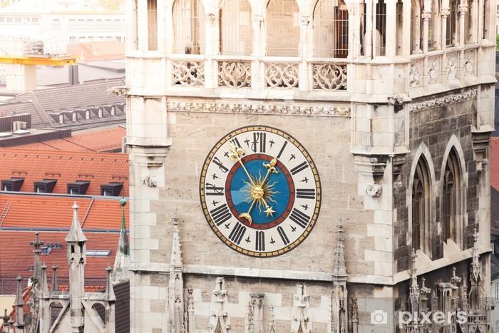 Fototapete Glockenspiel Uhr in München, Bayern, Deutschland