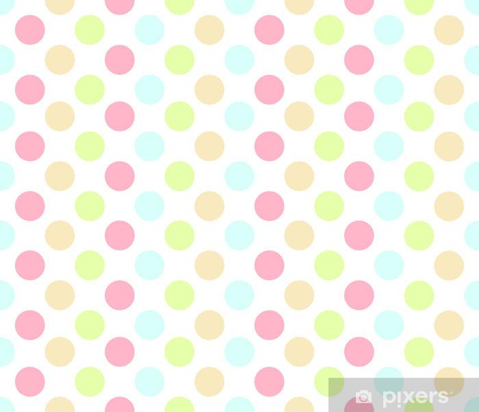 Naklejka Pixerstick Powtórz Kolorowe Dot - Tła