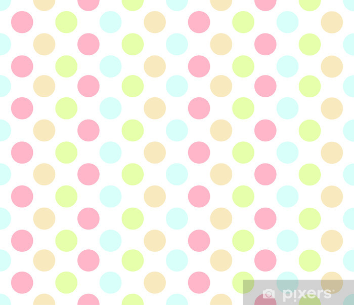 Sticker Pixerstick Répétez Colorful Dot - Arrière plans